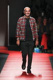 Designer Alessandro Dell'Acqua walks the runway during the N.21 fashion show Royalty Free Stock Photo