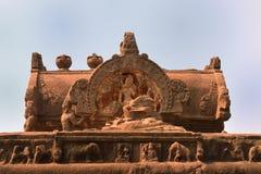 Designer artefact at Kailasha temple, Ellora caves, India stock photography