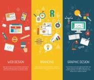 Designer Banner Set Stockbild