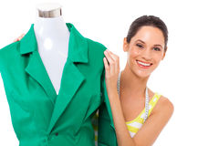 Designer behind mannequin Royalty Free Stock Photos