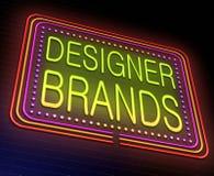 Designer brands concept. Stock Image