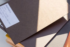 Designer brown card Stock Photos