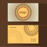 Designer business or visiting card set. Stock Photo