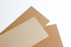 Designer cardboard on a white background Royalty Free Stock Photography