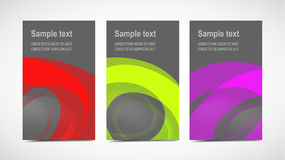 Designer cards with reflective paints Royalty Free Stock Images