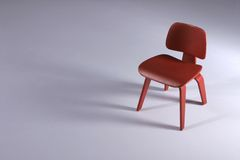 Designer Chair- Dining. Designer Chair in red stock image