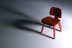 Designer Chair - Dining. Designer Chair - long shadow royalty free stock photo