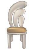 Designer chair. With fashioned back on white background Stock Photography
