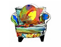 Designer Chair Illustration Royalty Free Stock Images