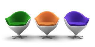 Designer chairs. Illustration of  3 modern designer chairs Stock Photo
