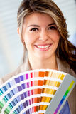 Designer with a color palette Stock Photography