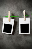 Designer concept - blank photo frames Stock Photos