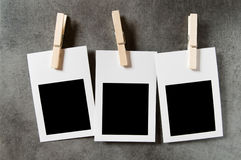 Designer concept - blank photo frames Stock Images