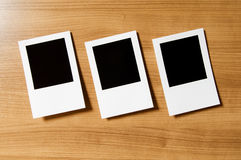 Designer concept - blank photo frames Royalty Free Stock Image