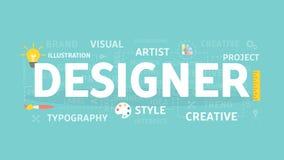 Designer concept illustration. Idea of artist, graphic and creativity Stock Image
