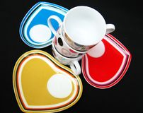 Designer Cups and Saucers Stock Image
