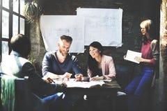 Designer de interiores Meeting Concept da arquitetura de negócio imagem de stock