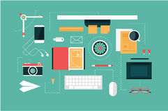 Designer desk header Royalty Free Stock Photos
