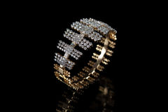 Designer diamond bracelet Stock Photography