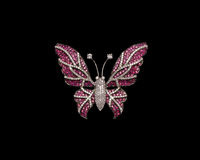 Designer diamond butterfly or brooch Royalty Free Stock Image