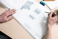 Designer, die Entwurf zeichnen stockbilder