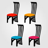 Designer dining chair graphic Stock Photo
