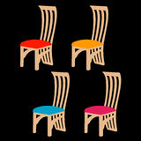 Designer dining chair graphic Royalty Free Stock Image