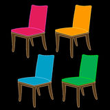Designer dining chair graphic Royalty Free Stock Images