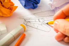 Designer Drawing Lizenzfreies Stockfoto