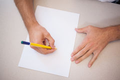 Designer drawing the old fashioned way Royalty Free Stock Image