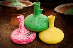 Designer earthen pots Royalty Free Stock Photography