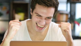 Designer Excited for Success at Work, Front View stock footage