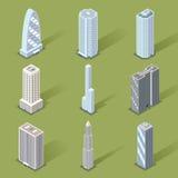 Designer för skyskrapa för vektor 3D grafiska Royaltyfri Fotografi