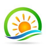 Designer för vektor för strand för sommar för ferie för turism för symbol för kust för symbol för våg för vatten för våg för hav  vektor illustrationer