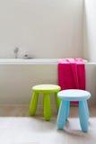 Designer family bathroom renovation with kids decor Stock Photography