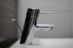 Faucet in the bathroom Stock Photo