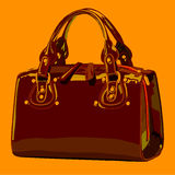 Designer female bags. vector Royalty Free Stock Photos