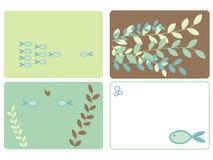 designer fiskar leaves Royaltyfria Bilder