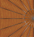 Designer floor tiles. With wood and metall Royalty Free Stock Image