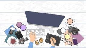 Designer-Fotograf Workspace Desk Stockfoto