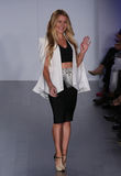 Designer Francesca Pitera walks runway at Jim Hjelm fashion show during Fall 2015 Bridal Collection Royalty Free Stock Photo