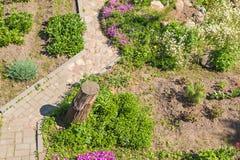 Designer garden path Royalty Free Stock Photos