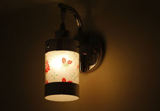 Designer glass night lamp Royalty Free Stock Images