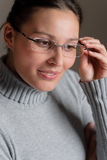 Designer glasses - successful architect woman Stock Images
