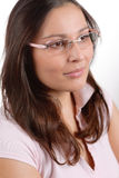Designer glasses - trendy woman fashion Stock Photography