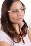 Designer glasses - trendy woman fashion Stock Photography
