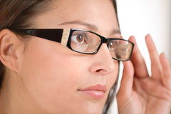 Designer glasses - trendy woman fashion Royalty Free Stock Photo