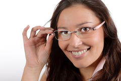 Designer glasses - trendy woman fashion Stock Image
