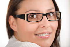 Designer glasses - trendy woman fashion Royalty Free Stock Photography