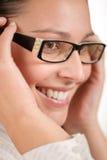 Designer glasses - trendy woman fashion Stock Photo